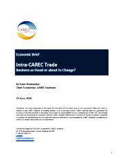 Intra-CAREC Trade: Business as Usual or About to Change? cover