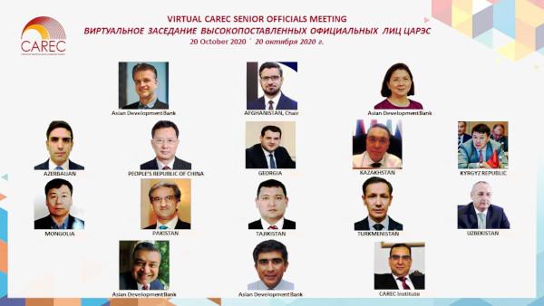 CAREC Senior Officials Meeting 2020 participants