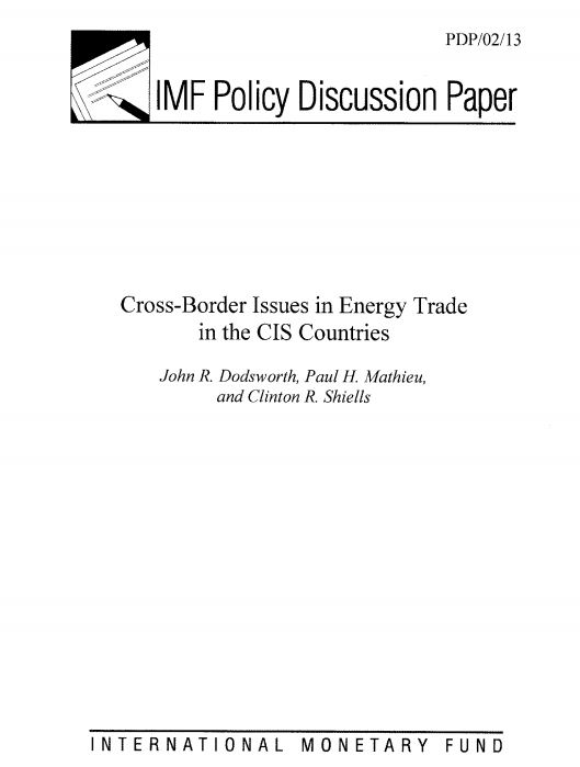 Cross-Border Issues in Energy Trade in the CIS Countries