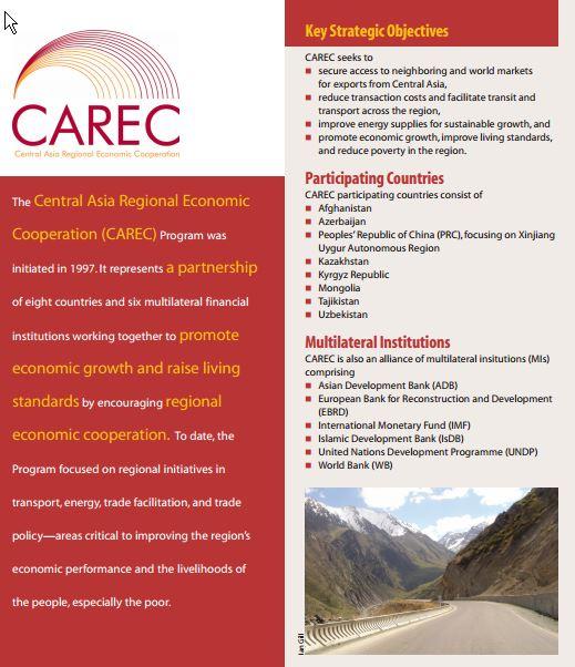 Central Asia Regional Economic Cooperation (CAREC)