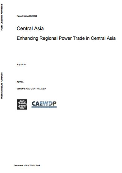 Enhancing Regional Power Trade in Central Asia