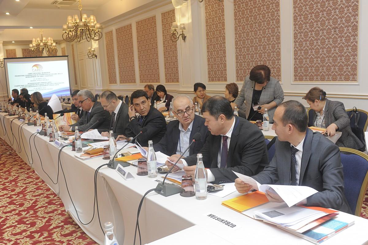 Delegations from Kazakhstan, Tajikistan, and Uzbekistan.