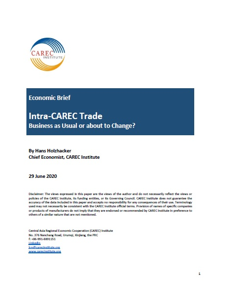 Intra-CAREC Trade: Business as Usual or About to Change?