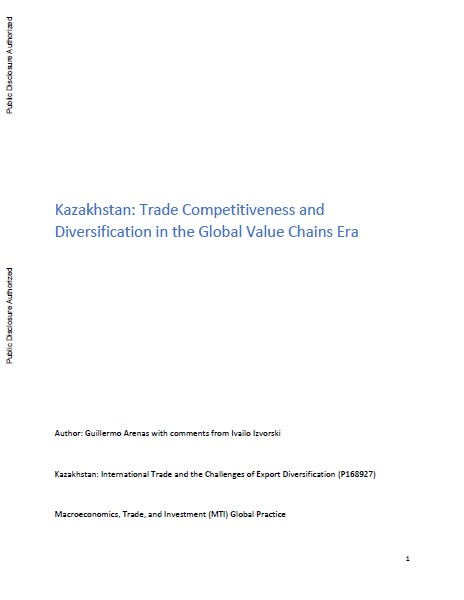 Kazakhstan: Trade Competitiveness and Diversification in the Global Value Chains Era