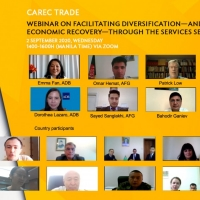 CAREC Webinar on Facilitating Diversification—and Economic Recovery—through the Services Sector