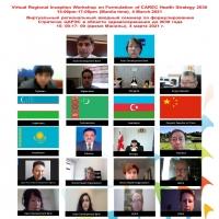 Virtual Regional Inception Workshop on Formulation of CAREC Health Strategy 2030