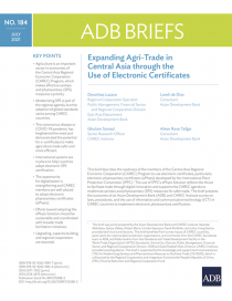Expanding Agri-Trade in Central Asia through the Use of Electronic Certificates
